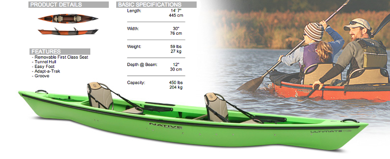Great Turtle Kayak Tours | Ultimate 14 5 tandem kayak by